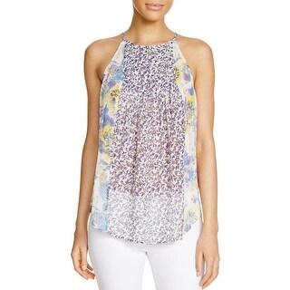 Joie Womens Amsonia Halter Top Silk Floral Print