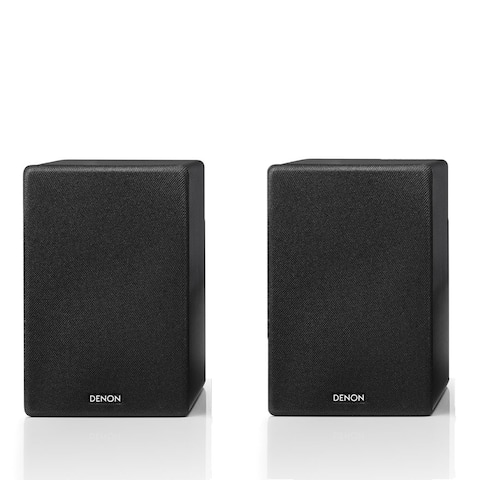 Denon SC-N10 Bookshelf Speakers - Pair (Black) - Black