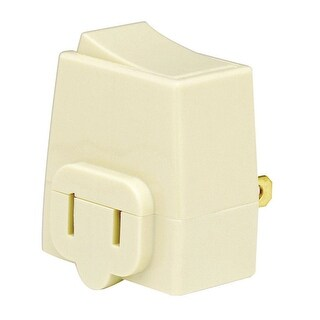 Leviton C21-01469-00I Residential Grade Single Plug-In Switch Tap, Ivory