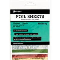 "Holiday 4.69""X3.56"" - Inkssentials Foil Sheets 4.69""X3.56"" 10/Pkg"