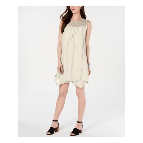STYLE & COMPANY Beige Sleeveless Above The Knee Shift Dress Size XL