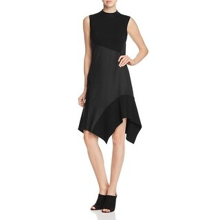 DKNY Womens Cocktail Dress Merino Wool Mock Neck - 2