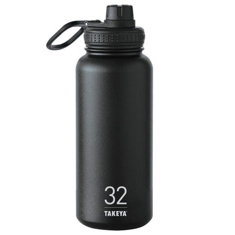Takeya 50011 Double Walled Water Bottle, 32 Oz, Black
