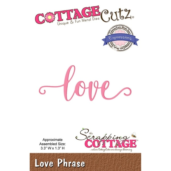 Cottagecutz Expressions Plus Die-Love