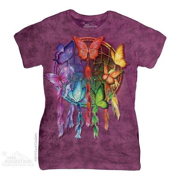 Rainbow Butterfly Dreamcatcher Classic Ladies Tee Adult