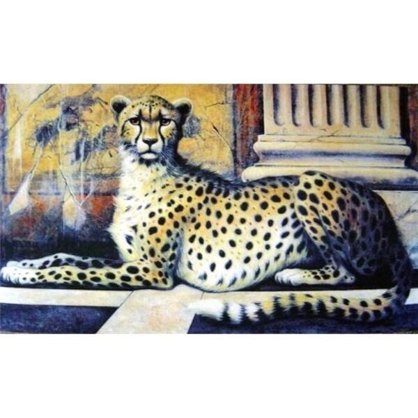Custom Printed Rugs AWV051 Cheetah 18 x 30 in. Doormat Rug - Brown Brown & Tan Gold & Yellow