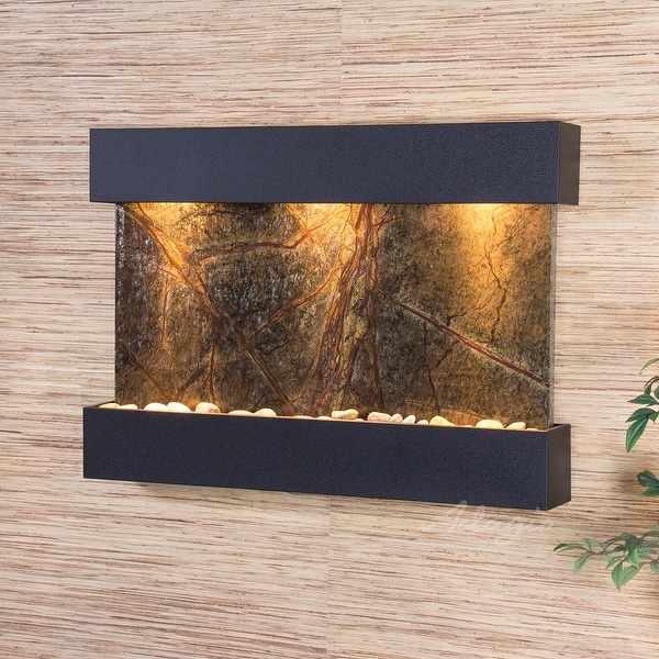 Adagio Reflection Creek Fountain with Textured Black Finish - Multiple Colors Available
