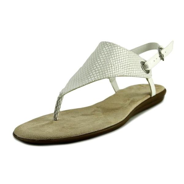 Aerosoles Conchlusion Women Open Toe Synthetic White Thong Sandal