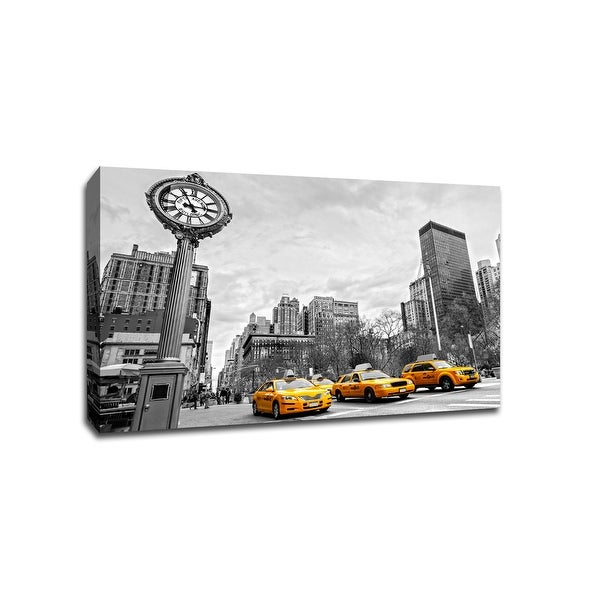 5th Avenue New York City - Touch of Color - 36x24 Gallery Wrapped Canvas ToC