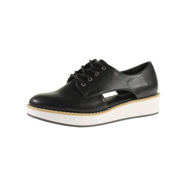 Steve Madden Womens Revealed Oxfords Faux Leather Cut-Out