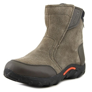 Merrell Moc Round Toe Leather Snow Boot