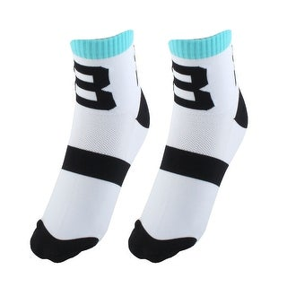 R-BAO Authorized Football Cotton Blend Compression Cycling Socks White Pair