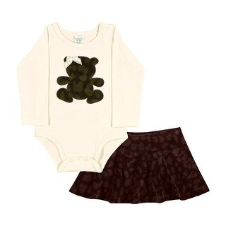 Baby Girl Outfit Bodysuit and Skirt Set Newborn Infant Pulla Bulla 6-12 Months