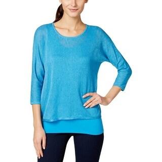 Calvin Klein Womens Sweater Sweater Shirt Knit (Option: L)