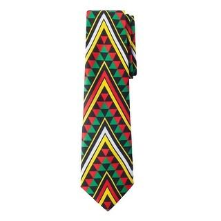 Jacob Alexander South Africa Country Men's Necktie - Sierpinski Triangle Pattern Design