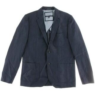 Tommy Hilfiger Mens Linen Blend Notch Collar Three-Button Blazer - 42