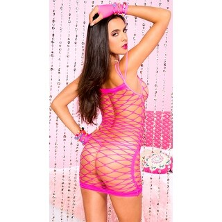 Wide Net Mini Chemise - One Size Fits most