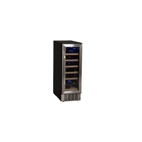 "EdgeStar CWR181SZ 12"" Wide 18 Bottle Built-In Single Zone Wine Cooler with LED Lighting and Reversible Door"