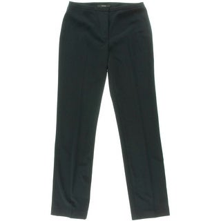 Tahari Womens Theora Solid Pleated Dress Pants - 0