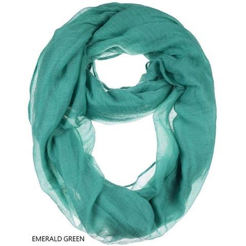 Womens sheer lightweight infinity scarf
