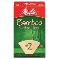 Melitta Coffee & Tea Filters #2 Cone Coffee Filters, Bamboo 80 count