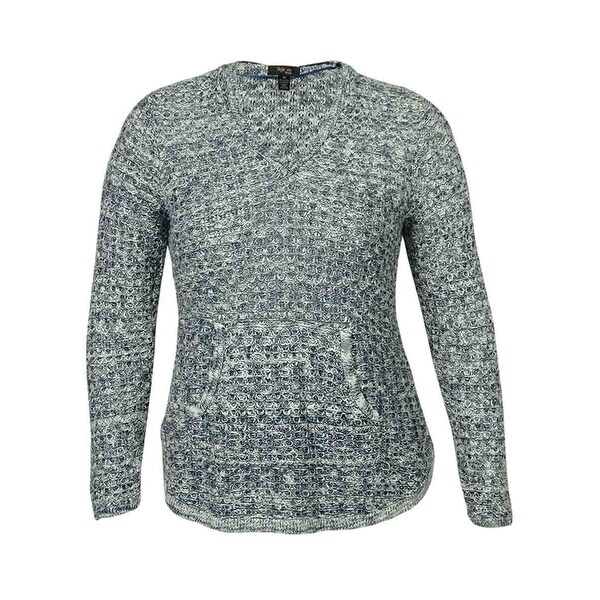 Style & Co Women's V-Neck Marled Hooded Sweater - Free Shipping On ...