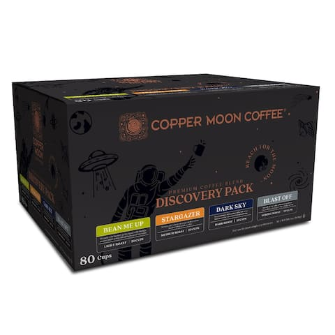 Copper Moon Single Serve Coffee K Cup Pods Discovery Pack, 80 Ct