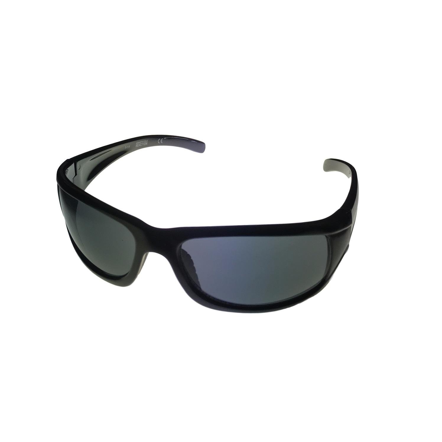 Smoke Lens KC1079  B5 Kenneth Cole Reaction Mens Sunglass Black Plastic Wrap