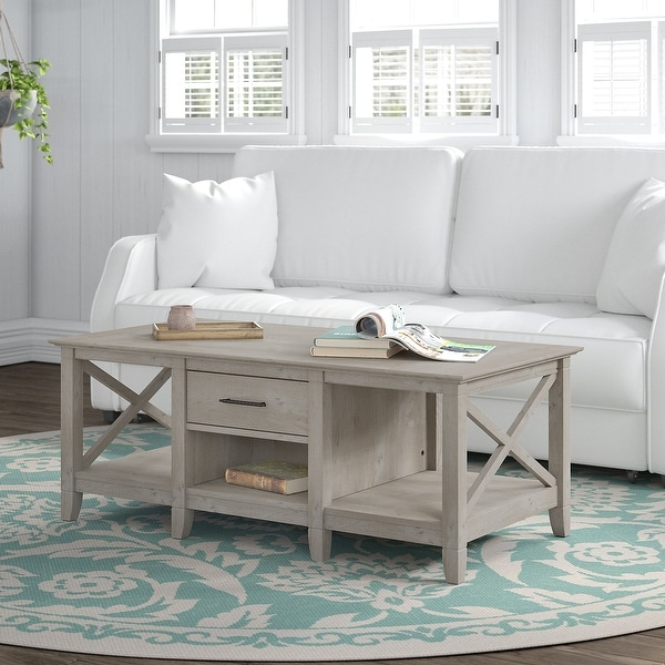 The Gray Barn Coffee Table with Storage. Opens flyout.