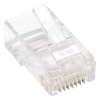Intellinet 502399 Cat5e Rj45 Modular Plugs 100-Pack Transparent Wire Connector