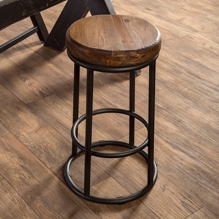 Link to Carbon Loft Horseshoe Reclaimed Wood and Iron Stool Similar Items in Dining Room & Bar Furniture