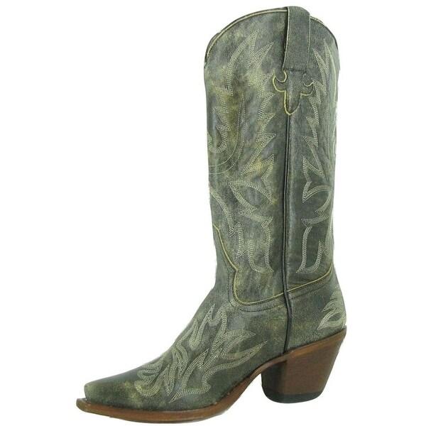 Macie Bean Western Boots Womens High Heels & High Hopes Black
