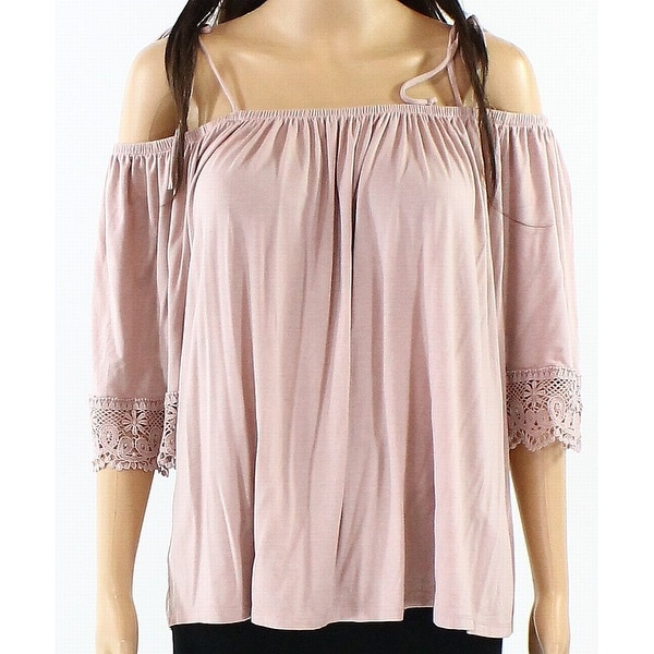 f485de7a61128 Shop Melrose and Market Pink Womens Size Large L Cold Shoulder Knit Top -  Free Shipping On Orders Over  45 - Overstock.com - 22437345