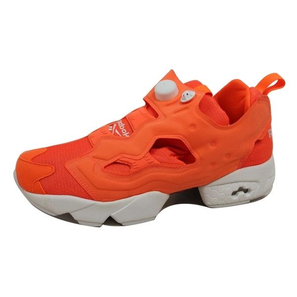 59e34fb428b1 Shop Reebok Men s Instapump Fury Tech Solar Orange White M46319 ...