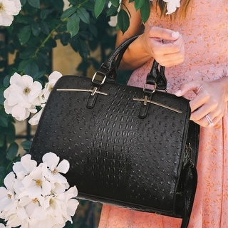 Link to Dasein Ostrich Embossed Satchel Handbag with Accessory Pouch Similar Items in Shop By Style