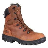 """Rocky Men's 8"""" S2V CT 200g Insulated WP Work Boot RKK0217 Brown Full Grain Leather"""