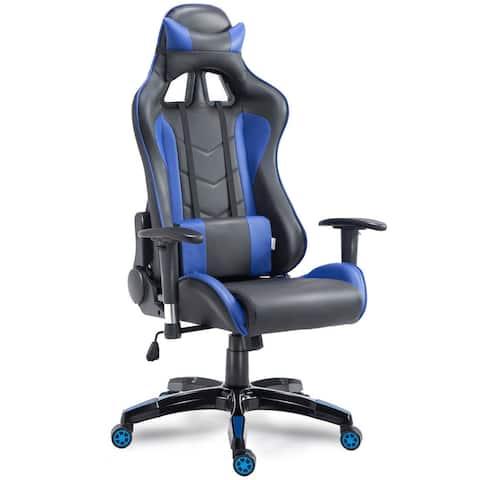 Costway High Back Executive Racing Reclining Gaming Chair Swivel PU