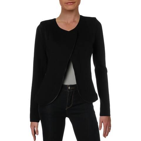Nic + Zoe Womens Tuxedo Jacket Knit Office - M