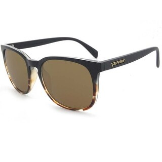 Peppers Polarized Sunglasses Nami Matte Black Fade with Brown Polarized Lens