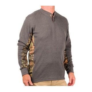 Mossy Oak Men's Thermal Henley Shirt