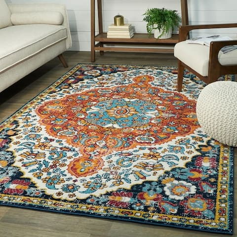 Telford Traditional Persian Oriental Medallion Area Rug