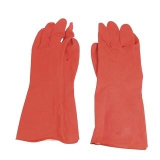 Unique Bargains Unique Bargains Protective Industrial Factory Chemical Oil Resistant Latex Long Gloves Pair