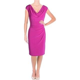 Lauren Ralph Lauren Womens Wear to Work Dress Matte Jersey Ruched