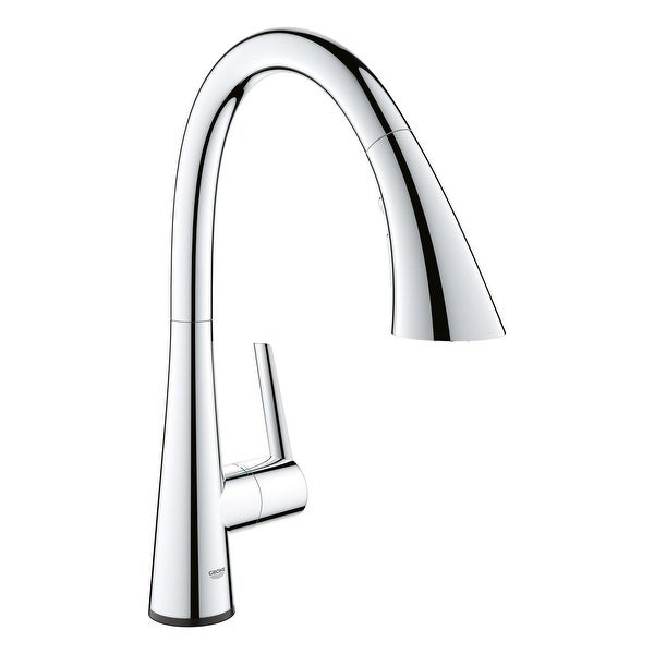 Grohe 30 205 2 Ladylux L2 1.75 GPM Single Hole Pull Out Touch Activated Kitchen Faucet with SilkMove Technology