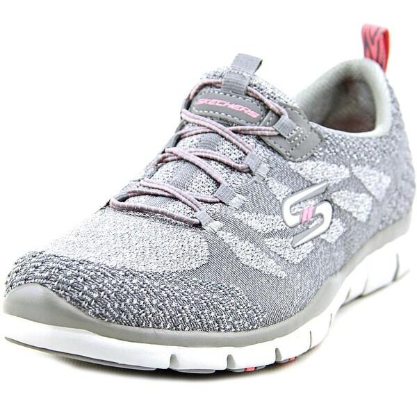 Skechers Sleek & Chic Women Round Toe Canvas Gray Walking Shoe