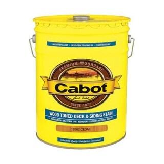 Cabot 05-19202 Wood Toned Deck & Siding Stain, 5 Gallon, Cedar