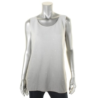 Lafayette 148 Womens Casual Top Knit Sequined - l