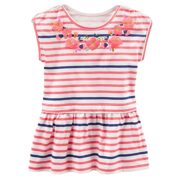 69f3d5da49ee Shop OshKosh B gosh Big Girls  TLC Striped Peplum-Hem Tunic