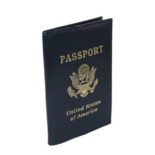 CTM® Leather Travel Passport Cover - One size