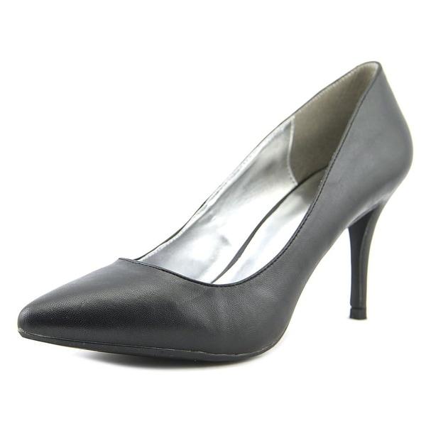 143 Girl Owanda Women Pointed Toe Synthetic Black Heels